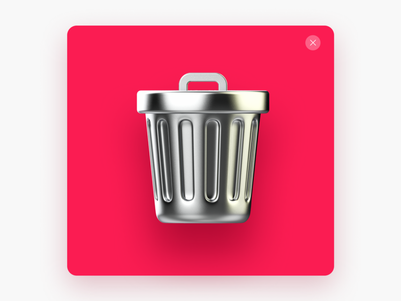 Delete 3d isometry c4d cinema4d maxonc4d icon design icon 3dillustration 3d artist 3d art illustration user interface uxdesign interface design ui design interaction ux app design ui inspiration