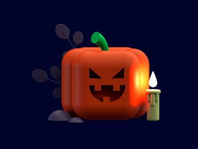 Spoooky logo flatdesign render spooktober spook halloween design halloween party halloween 3dillustration 3d artist cinema4d maxonc4d design illustration 3d inspiration