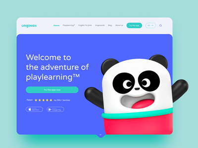 Lingokids landing page concept character design 3d user interface design user experience landing design landing page design landingpage web design website web design app concept uxdesign interface ux ui design interaction app design ui inspiration