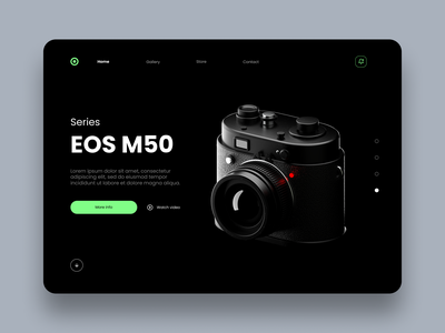 Camera landing interfaces interfacedesign landing page design landing page web design illustrations camera icon camera 3d art 3d technology user interface ui design interface ux interaction design app design ui