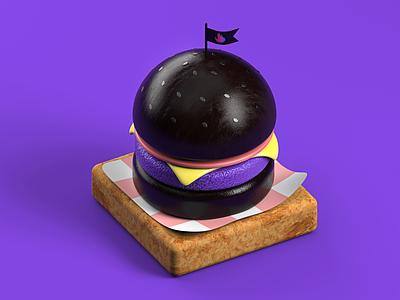 Burger materials texture model3d modeling food color designgraphicdesign isometricillustration isometric render c4d maxon cinema4d 3dart 3d logo branding illustration inspiration