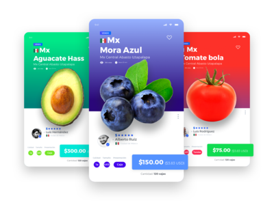 Cards fruits