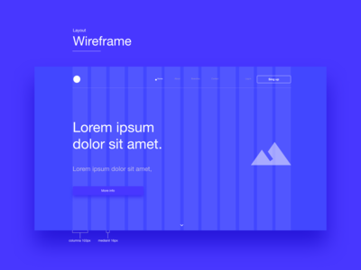 Wireframe responsive grid