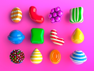 Candy Don Zeta 3d candy crush cinema 4d digital art photo retouching