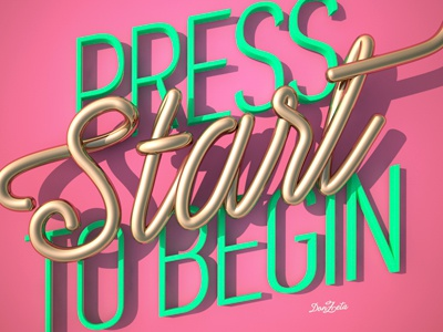 Press Start to Begin Don Zeta promotion self digital art
