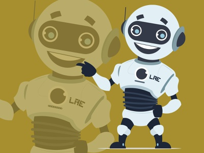 Robot Lae vector cute technology tech robô robot robotics