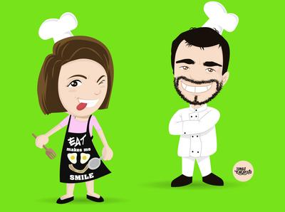 Caricature chef