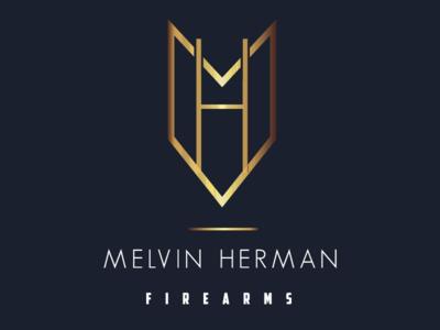 Melvin Herman Firearms gun gold logo firearms kansas