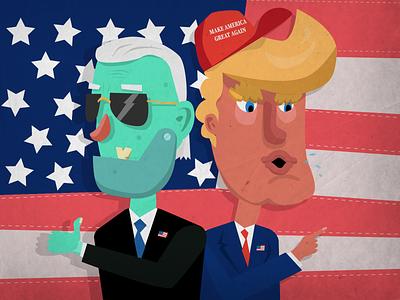 2020 election presidential election america flat vector illustrator adobe character biden trump illustration