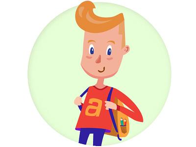 Johnny - character explainer illustration chracter boy