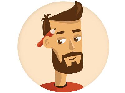 Self-portrait vector design character illustration