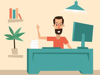 Explainer  Office illustrator character design motion animation explainer