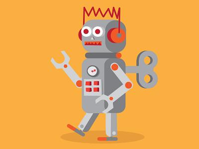 Robot kartonbar explainer adobe character illustration robot