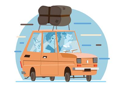 Maluch illustrator vector car old fiat