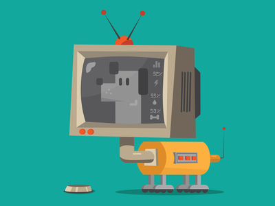 Robo Dog illustrator explainer design illustration character dog