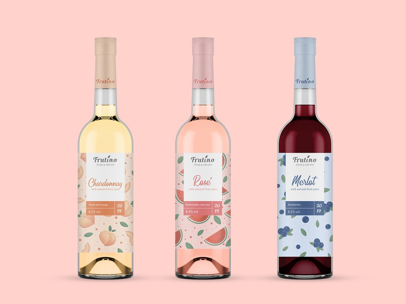 Redesign wine label - Frutino