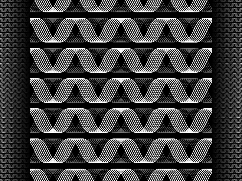 2018 June 15 - Daily Vector illustrator black and white seamless pattern vector