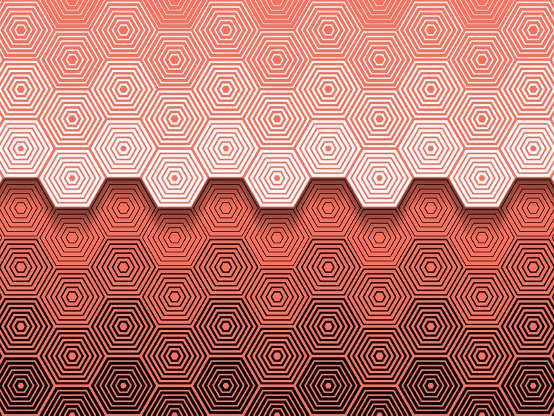 02.January.2019 pantone color of the year patterns opart lines shadows illustrator shapes blend art blend tool daily vector