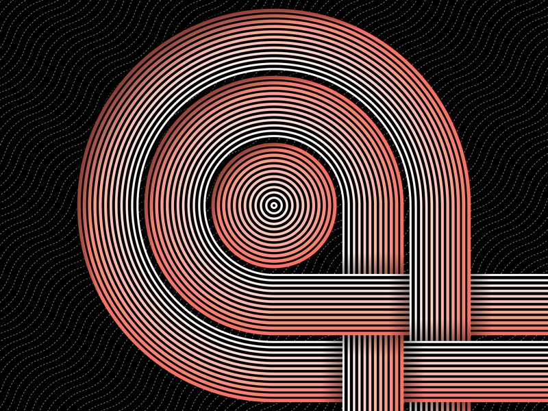 03.January.2019 pantone color of the year opart lines stripes shadows illustrator shapes blend art blend tool daily vector