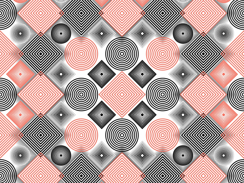 04.Jan.2019 pantone color of the year patterns lines stripes illustrator shadows opart blend art blend tool daily vector