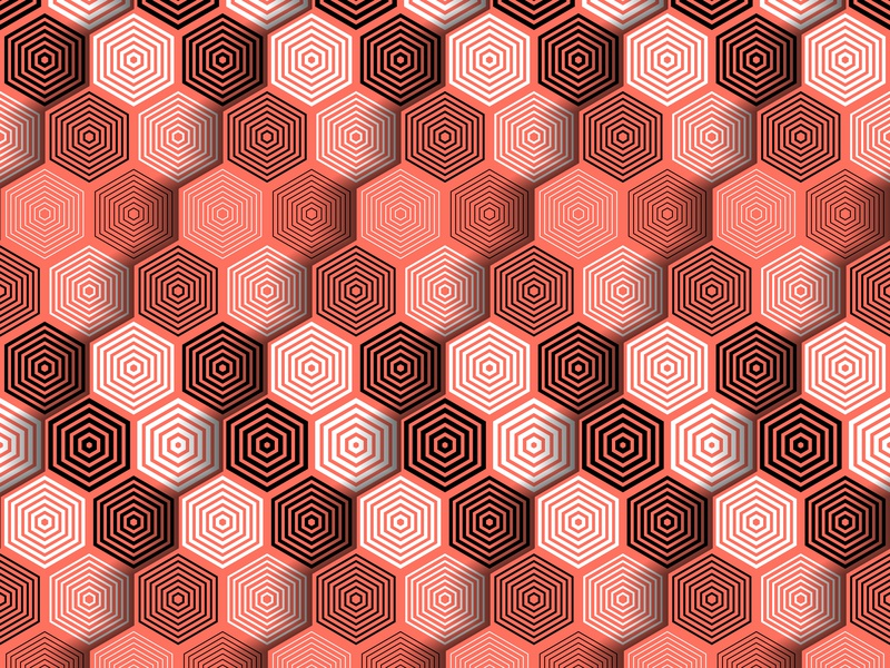05.January.2019 pantone color of the year patterns opart lines shadows illustrator shapes blend art blend tool daily vector