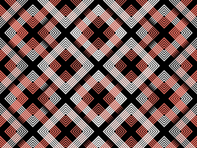 11.January.2019 pantone color of the year patterns opart lines stripes shadows illustrator shapes blend art blend tool daily vector