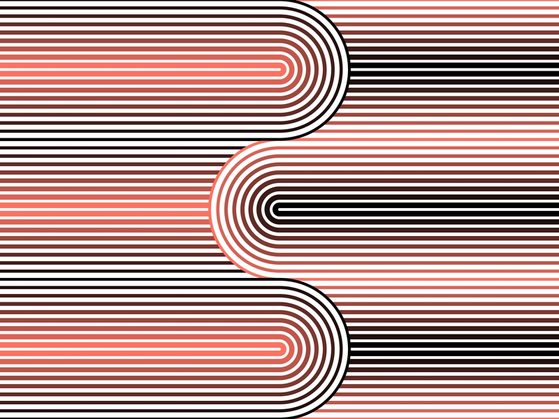 13.January.2019 pantone color of the year patterns opart lines stripes shadows illustrator shapes blend art blend tool daily vector