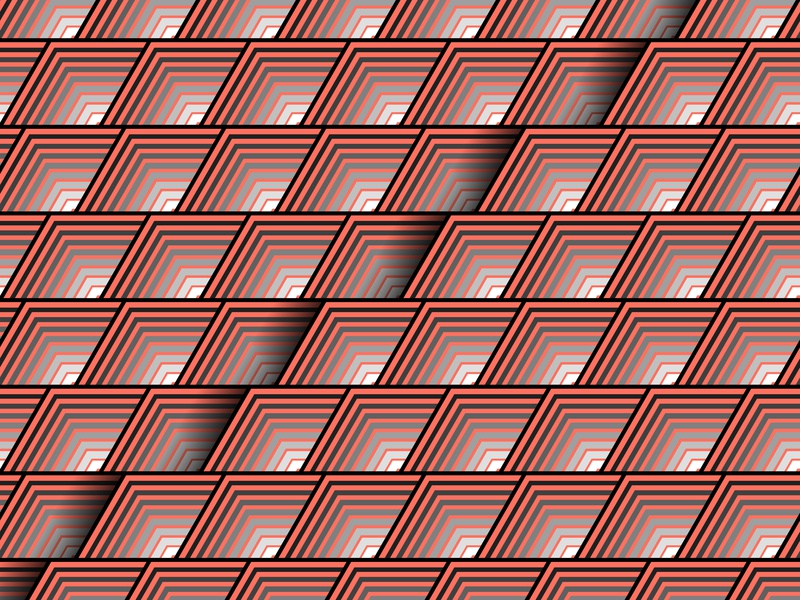 15.January.2019 pantone color of the year patterns opart lines stripes shadows illustrator shapes blend art blend tool daily vector