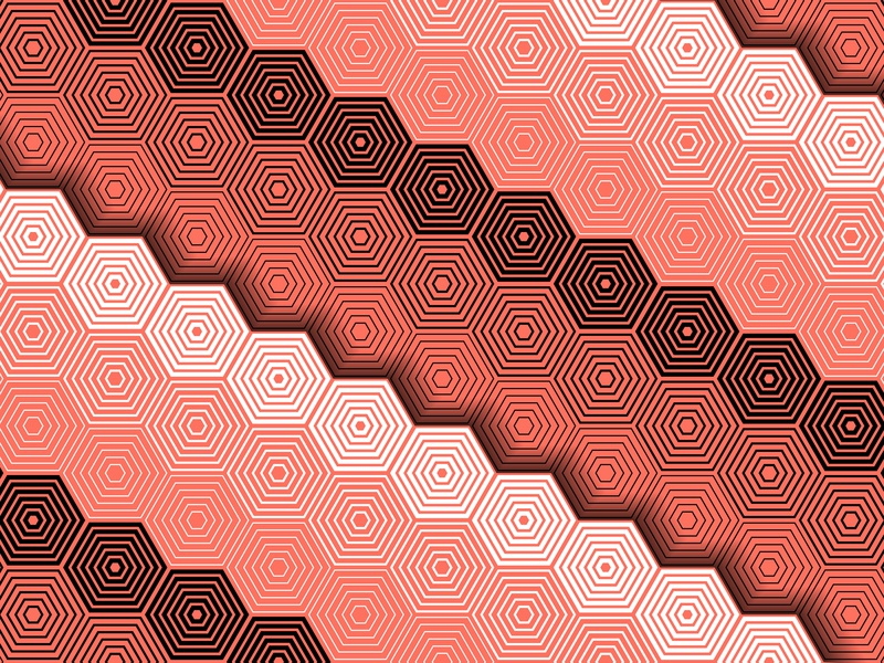 20.January.2019 pantone color of the year patterns opart lines shadows illustrator shapes blend art blend tool daily vector