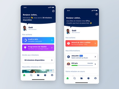 iziwork App Dashboard