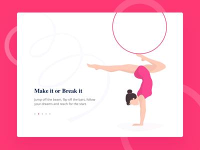 Gymnastics illustration for a website