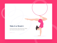 Gymnastics illustration for a website