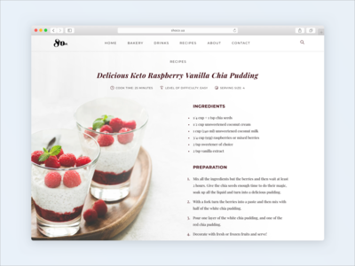 Concept for tasty-looking websites