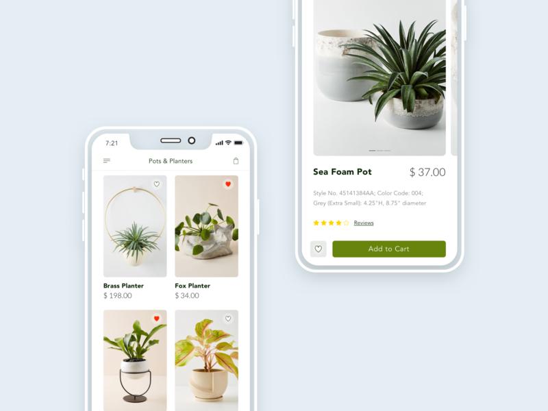 Mobile plant app ecommerce mobileui ux concept mobile app plant mobile shop shop app ui mobile design