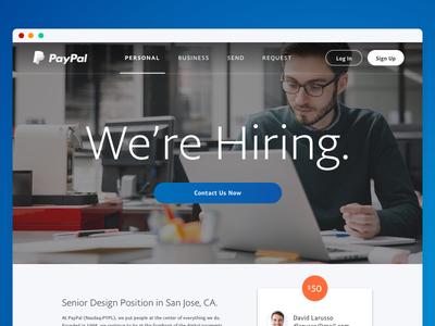 PayPal is Hiring a Senior Designer!