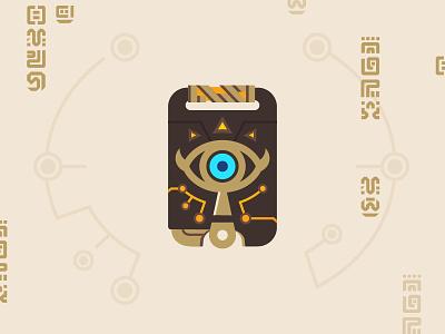 Zelda - Sheikah Slate gaming game egyptian sand tan switch nintendo runes video game zelda illustration flat