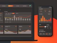 Social App - Dusk Mode, Dashboard Activity Screen