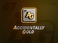 Accidentally Gold - Rumble Team Logo logotype typography layer styles vector gold esports logo science metal silver periodic table elements