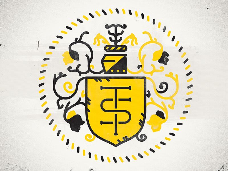 Family Crest Logo family crest vector texture coat arms typography type letters lettering monogram initials logo identity design mark ringling brand branding