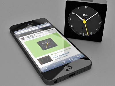 Phoning in a rebound cheetah3d 3d model braun phone