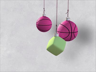 Best wishes for the festive season cheetah3d sketchapp basketbaubles