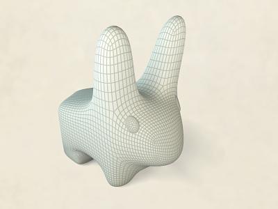 Vinyl Bunny WIP cheetah3d rabbit bunny subdivision modeling wireframe