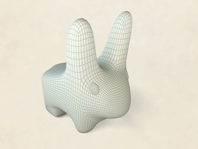 Vinyl Bunny WIP cheetah3d rabbit bunny subdivision modeling wireframe