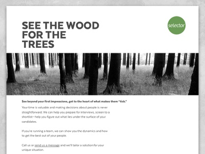 Web site mockup selector minimal texta web