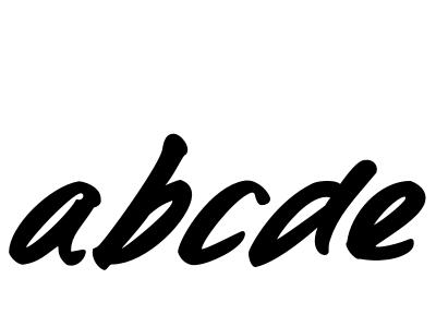 Kerning time font typeface hand