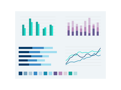 Colour palette & data visualisation palette colour color web australia stock exchange finance branding