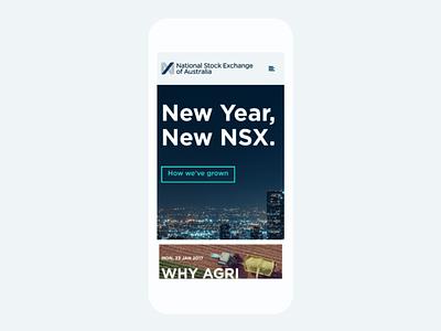 Mobile views grid layout branding finance web design stock exchange australia