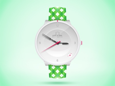 Wristwatch for lovers of cooking