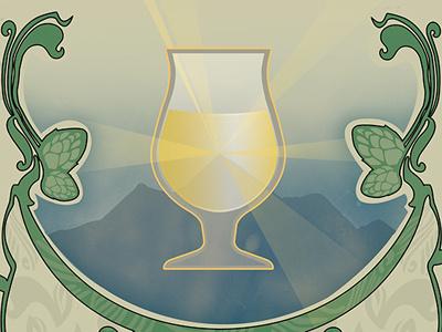Nectar de la Saison Illustration art nouveau illustration saison craft beer