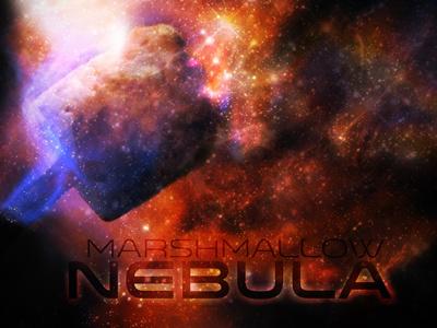 Marshmallow Nebula marshmallow nebula space travel telescope hubble photoshop illustration hello computer